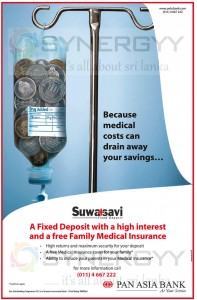 Suwasavi Fixed Deposits with Medical Insurance Cover from Pan Asian Bank