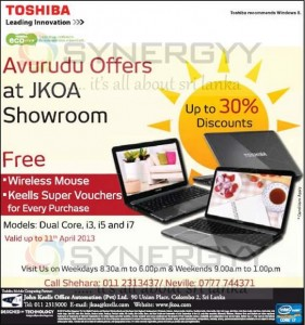 Toshiba Avurudu offers valid till 11th April 2013