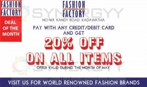 20% off on all Items from Fashion Factory