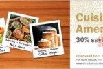 30% off for American Express Credit Card for each day at each restaurant June 2013