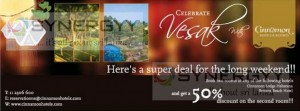 50% off second Room for this Vesak Season – Cinnamon Lodge Habarana and Bentota Beach Hotel