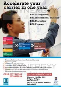 Accelerate Final Year Bachelor Programme with Professional Qualification from ANC – New Enrollment open on 16th May 2013