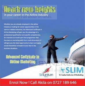 Advance Certificate in Airline Marketing in Sri Lanka – A Professional Qualification from Sri Lankan Airline and SLIM