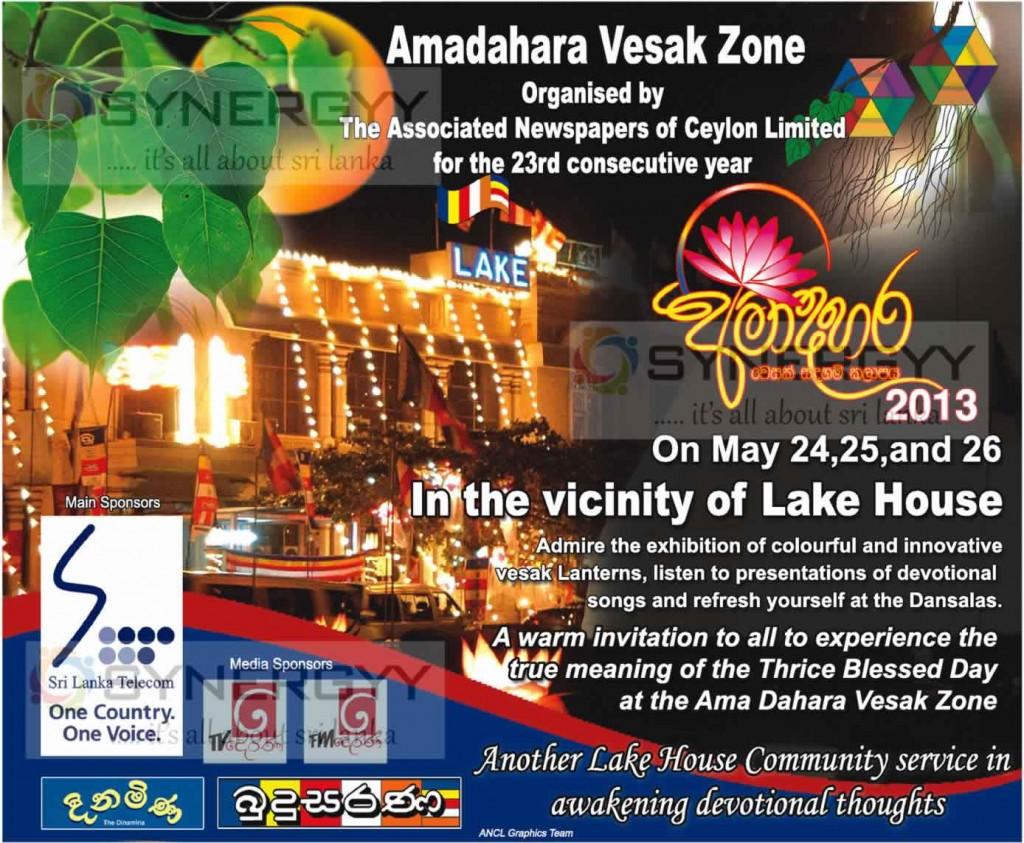 Amadahara Vesak Zone at Lake House, Colombo - 24th,25th ...