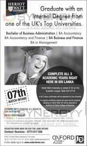 Bachelor Degrees from Oxford College of Business - June 2013 Intakes