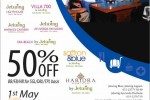 Books your  holidays at Jetwing Hotels for 50% off from 1st May to 20th June 2013 – only on HNB Credit Cards