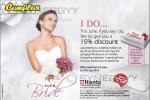 Bride Offer of 15% for June & July 2013 at Hants Showroom