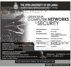 Certificate in Computer Networks & Security - OUSL