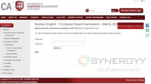 Chartered Accountants of Sri Lanka March 2013 Result Released