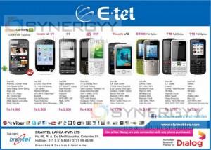 E-tel Mobile Prices in Sri Lanka – June 2013