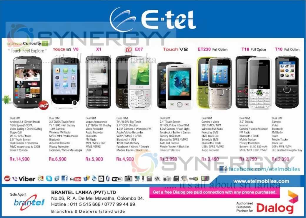 Mobile Operators in Srilanka – Dialog, Etisalat, Mobitel