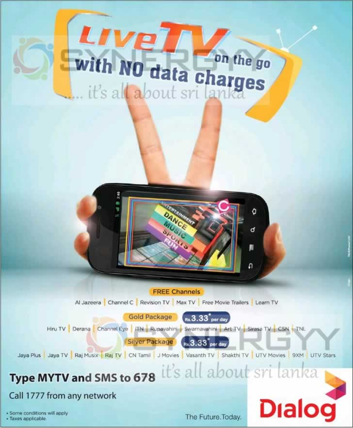 FREE Dialog Live TV without Date Charges – Activate now