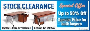 Front Office or Office Table 50% of on Stock Clearance Sale