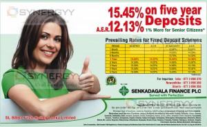 Highest Interest rate for FD In Sri Lanka as 15.45%