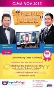 CIMA November 2013 with Imperial College
