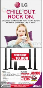 LG Home Theatre System for Rs. 39,999.00 – May 2013
