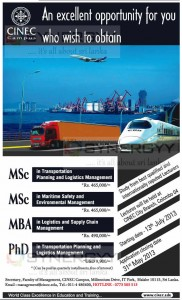 Masters Degree Programme Transport and Logistics Management – starting 13th July 2013