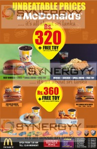 McDonald's Happy Meal Prices in Sri Lanka