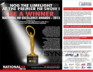 National HR Excellence Awards 2013 – 31st May 2013