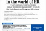 Professional Qualification in Human Resource Management (PQHRM) by IPM – Commencement from 12th may 2013