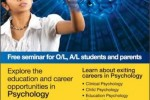 Psychology Education and Career seminar on 9th June 2013