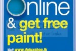 Shop online and get free paint at Dulux – New Promotion in Sri Lanka