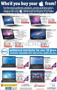 Softlogic Laptop Offers on MacBook and Dell Inspiron – May 2013