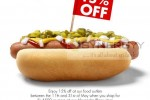 Spend Rs. 4,500 and enjoy 15 % off at ODEL Food Outlets till 31st May 2013