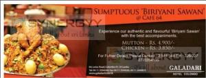 Sumptuous 'Biriyani Sawan' CAFE 64 at Galadari Hotel Colombo