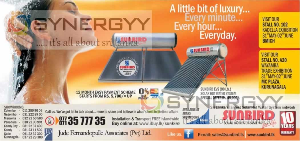 Sunbird S Solar Hot Water System For Rs 45 000 Now 171 Synergyy