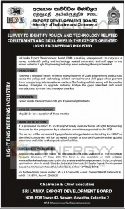 Survey Identifies Policy and Technology Related Constraints and Skill Gaps in the export oriented light engineering industry