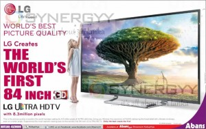 The World Big HD TV from Abans – 84""