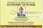 World & Regional Economic Outlook Public Lecture on 7th May 2013