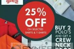 25% off on Crocodile Shirts & T-Shirts – from 14th June to 14th July 2013