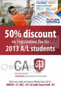 50% Off on CA Registration today at Future Mind Exhibition