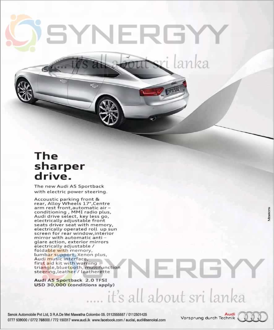Audi A5 For USD 30,000 In Sri Lanka