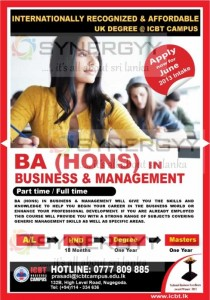 BA (Hons) in Business & Management Part time Full time by ICBT