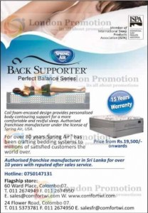 Back Supporter Mattress for Rs. 19,500.00 Onwards