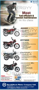 Bajaj Motor Cycle Prices in Sri Lanka – Updated June 2013