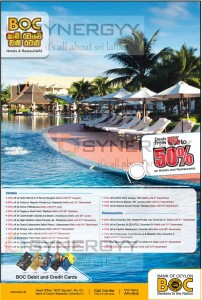 Bank of Ceylon Credit and Debit Card Offers for 2013