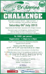 Bridgetines Challenge – 6th July 2013