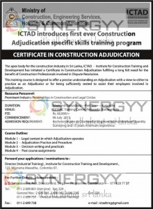 CERTIFICATE IN CONSTRUCTION ADJUDICATION on 6th June 2013
