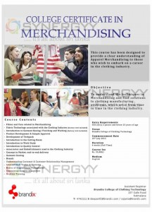 College Certificate in Merchandising by Brandix College of Clothing Technology