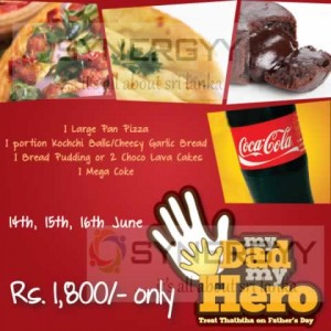 Fahter's Day Pizza Promotion in Sri lanka