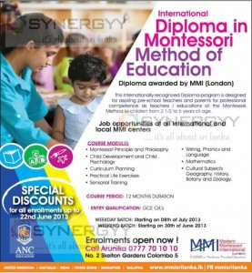 International Diploma in Montessori Method of Education by ANC