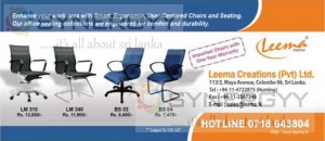 Leema Creation Official Chairs Prices are Rs. 7,475.00 upwards