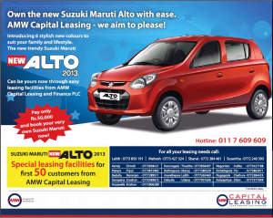 Maruti Suzuki New Alto 2013 for Leasing