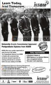 NSBM Postgraduate Diploma Programme in Sri Lanka