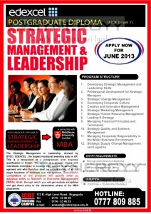 Postgraduate Diploma in Strategic Management & Leadership