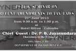 Public seminar on recent amendments to tax laws – 21st June 2013